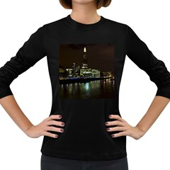 The Shard and Southbank London Dark Colored Long Sleeve Womens'' T-shirt