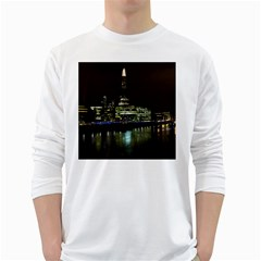 The Shard and Southbank London White Long Sleeve Man''s T-shirt