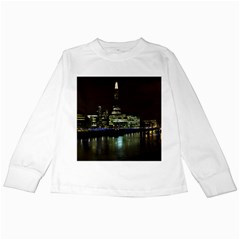 The Shard and Southbank London White Long Sleeve Kids'' T-shirt