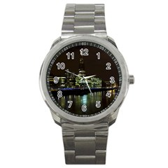 The Shard and Southbank London Stainless Steel Sports Watch (Round)
