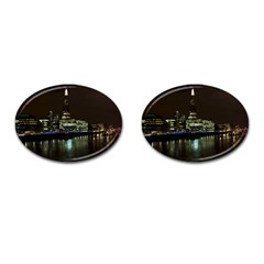 The Shard and Southbank London Oval Cuff Links