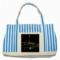 The Shard And Southbank London Blue Striped Tote Bag