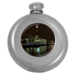 The Shard And Southbank London Hip Flask (round)