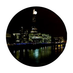 The Shard and Southbank London Twin-sided Ceramic Ornament (Round)