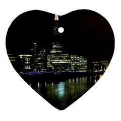 The Shard And Southbank London Heart Ornament (two Sides)