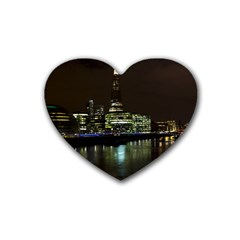 The Shard And Southbank London Rubber Drinks Coaster (heart)