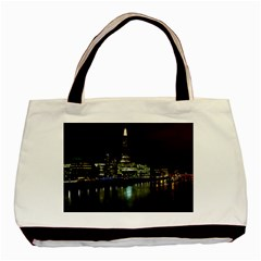 The Shard and Southbank London Twin-sided Black Tote Bag