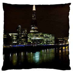 The Shard and Southbank London Large Cushion Case (Two Sides)