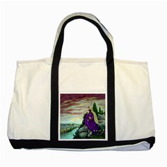 Jesus Overlooking Jerusalem By Ave Hurley  Two Toned Tote Bag