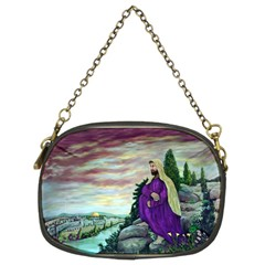 Jesus Overlooking Jerusalem By Ave Hurley  Twin Sided Evening Purse
