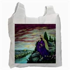 Jesus Overlooking Jerusalem by Ave Hurley  Single-sided Reusable Shopping Bag