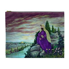 Jesus Overlooking Jerusalem by Ave Hurley  Extra Large Makeup Purse