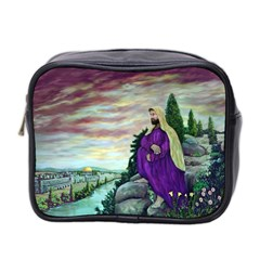 Jesus Overlooking Jerusalem by Ave Hurley  Twin-sided Cosmetic Case
