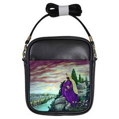 Jesus Overlooking Jerusalem By Ave Hurley  Kids  Sling Bag