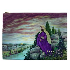 Jesus Overlooking Jerusalem by Ave Hurley  Cosmetic Bag (XXL)