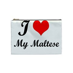 I Love My Maltese Medium Makeup Purse