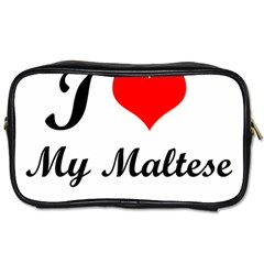 I Love My Maltese Twin Sided Personal Care Bag