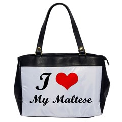 I Love My Maltese Single-sided Oversized Handbag
