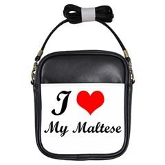 I Love My Maltese Kids  Sling Bag