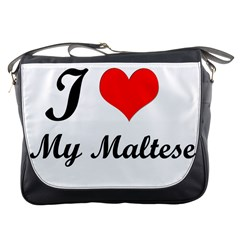 I Love My Maltese Messenger Bag