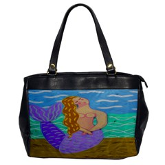 Purple Mermaid Leather Like Handbag