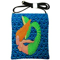 Mermaid In The Ocean Shoulder Bag Cross Shoulder Sling Bag