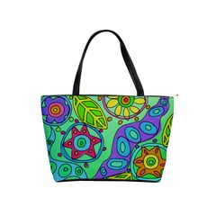 Abstract Flowers Large Handbag