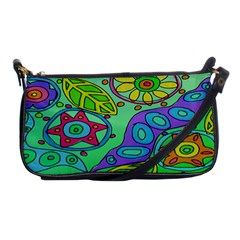 Abstract Flowers Clutch Handbag