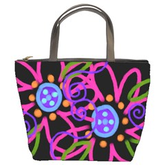 Painted Pink Flowers Small Handbag