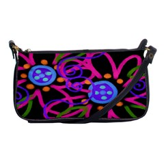 Painted Pink Flowers Clutch Purse