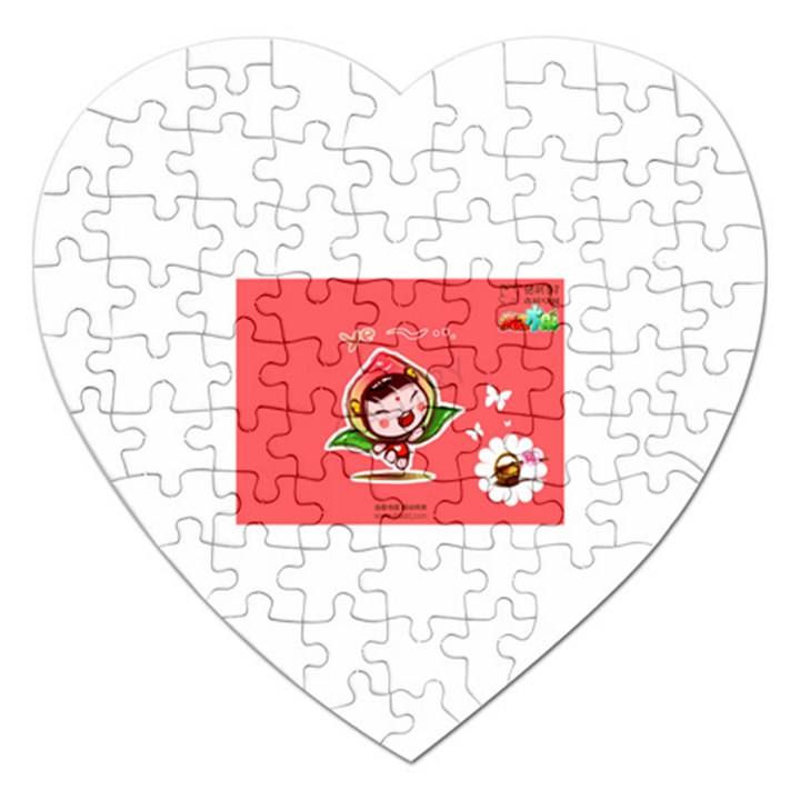 Cartoon People 006 Jigsaw Puzzle (Heart)