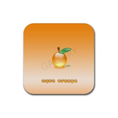 Cartoon Fruit 002 Rubber Square Coaster (4 pack)