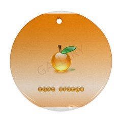 Cartoon Fruit 002 Round Ornament (Two Sides)
