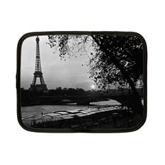 Vintage France Paris Eiffel Tour & Seine At Dusk 1970 7  Netbook Case