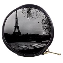 Vintage France Paris Eiffel Tour & Seine At Dusk 1970 Mini Makeup Case
