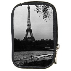 Vintage France Paris Eiffel tour & Seine at dusk 1970 Digital Camera Case