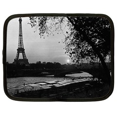 Vintage France Paris Eiffel tour & Seine at dusk 1970 13  Netbook Case