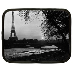Vintage France Paris Eiffel Tour & Seine At Dusk 1970 15  Netbook Case