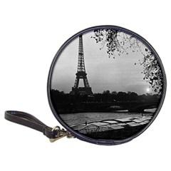 Vintage France Paris Eiffel Tour & Seine At Dusk 1970 Cd Wallet