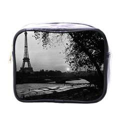 Vintage France Paris Eiffel tour & Seine at dusk 1970 Single-sided Cosmetic Case