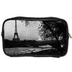 Vintage France Paris Eiffel tour & Seine at dusk 1970 Twin-sided Personal Care Bag