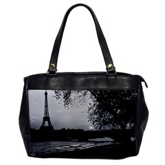 Vintage France Paris Eiffel tour & Seine at dusk 1970 Single-sided Oversized Handbag