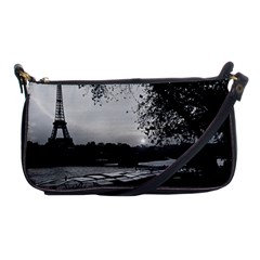 Vintage France Paris Eiffel tour & Seine at dusk 1970 Evening Bag