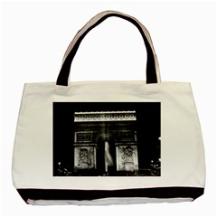 Vintage France Paris Triumphal arch 1970 Twin-sided Black Tote Bag