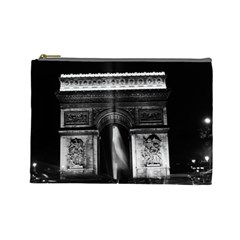 Vintage France Paris Triumphal Arch 1970 Large Makeup Purse