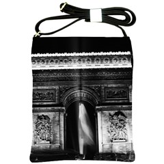 Vintage France Paris Triumphal arch 1970 Cross Shoulder Sling Bag