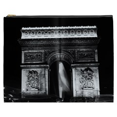 Vintage France Paris Triumphal arch 1970 Cosmetic Bag (XXXL)