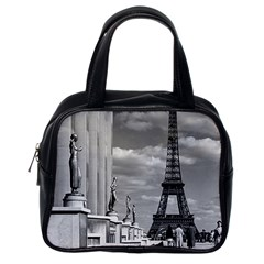 Vintage France Paris Eiffel Tour Chaillot Palace 1970 Single Sided Satchel Handbag