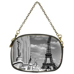 Vintage France Paris Eiffel Tour Chaillot Palace 1970 Single Sided Evening Purse