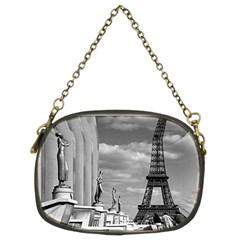 Vintage France Paris Eiffel tour Chaillot palace 1970 Twin-sided Evening Purse